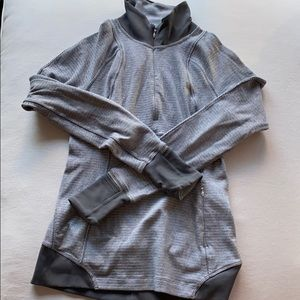 Lululemon Grey Herringbone Pullover Half Zip